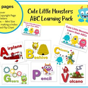 Cute Little Monsters ABC Learning Printable Package & Mini Flip Chart