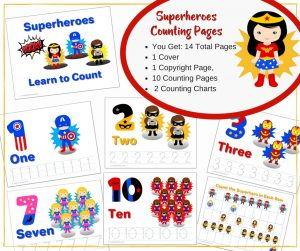 We are thrilled to bring you the Ultimate Preschool Super Hero Learning Bundle with ABCs and Numbers. If you have a superhero fan, they will love this bright and engaging package. Perfect to use over and over in your homeschool if you have multiple students.