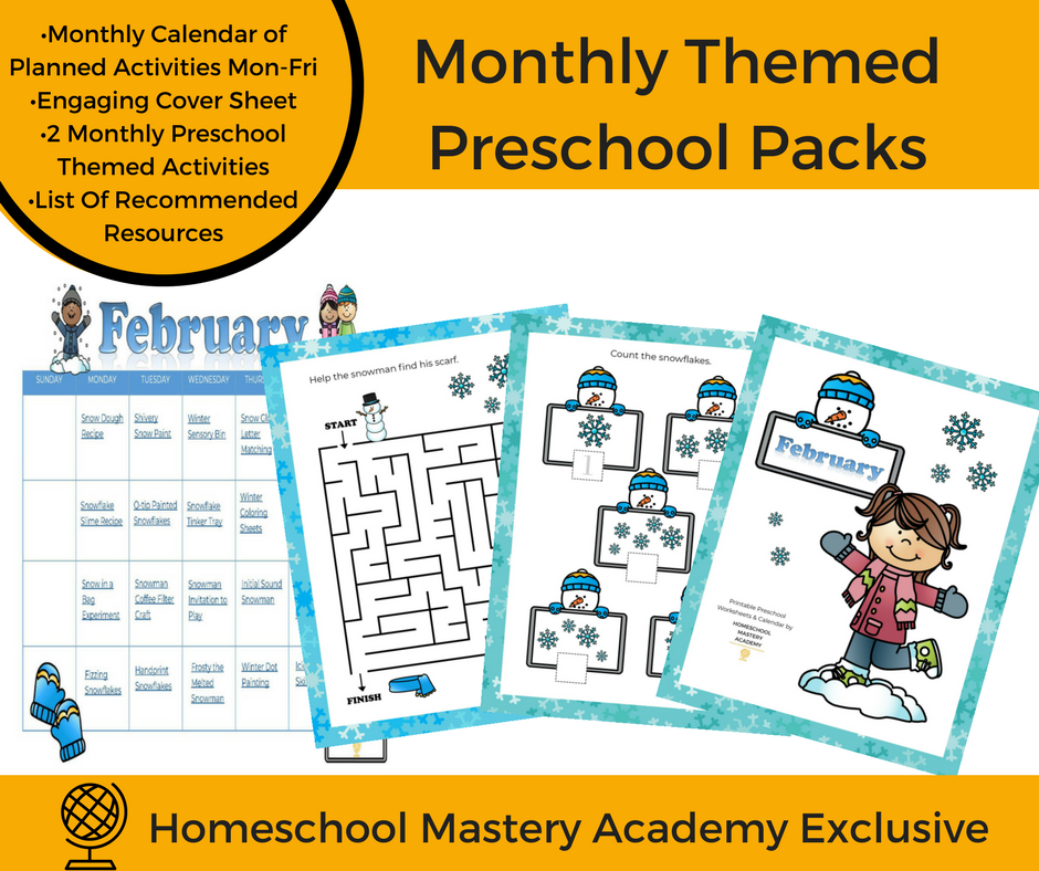 Kindergarten Calendar Of Activities : February preschool printable calendar of activities