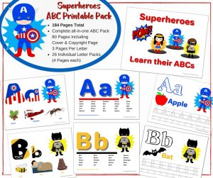 Ultimate Preschool Super Hero Learning Bundle ABCs + Numbers