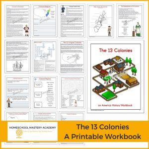 Comprehensive 13 Colonies American History Workbook