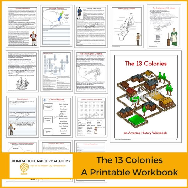 Comprehensive 13 Colonies American History Workbook