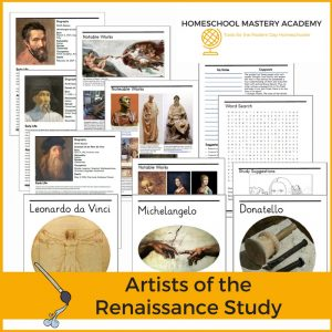 Comprehensive Biography & Study The Masters of Art Package: Michelangelo, Donatello, Leonardo