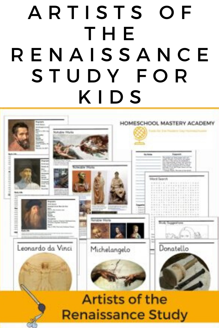 Artists of the Renaissance Study for Kids