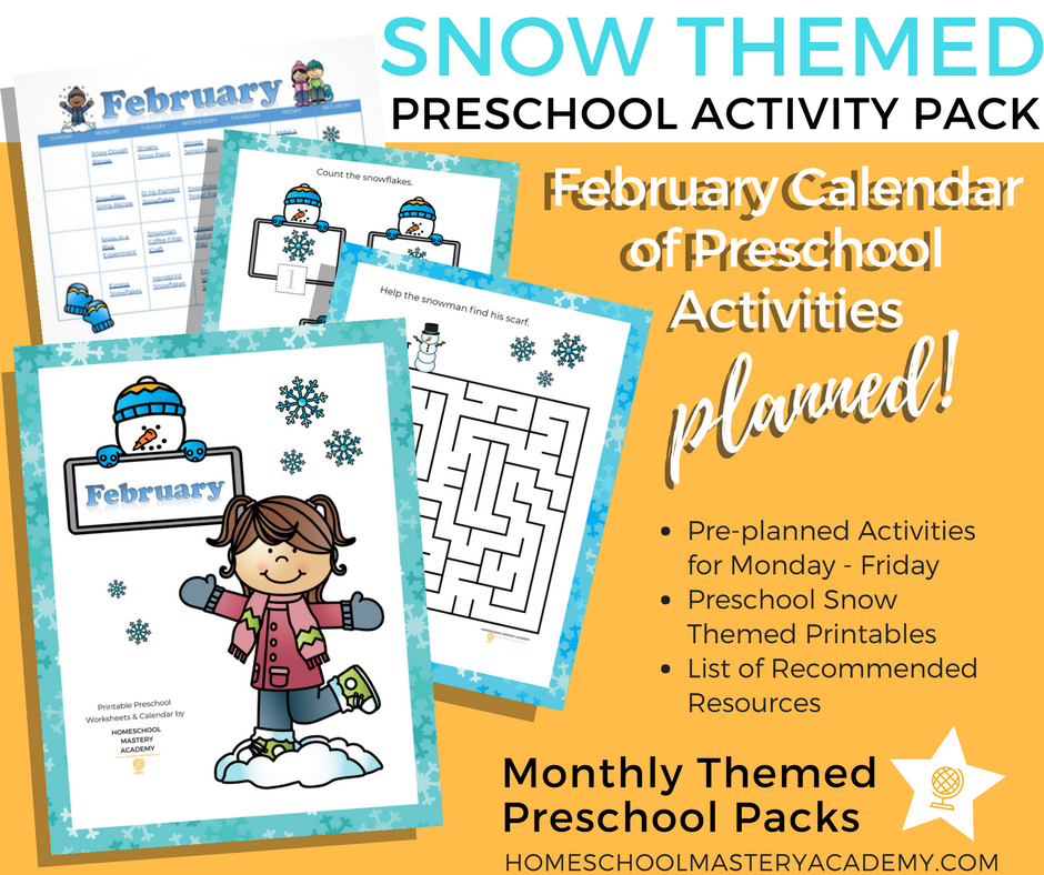 Snow Themed Books and Activities for Preschoolers