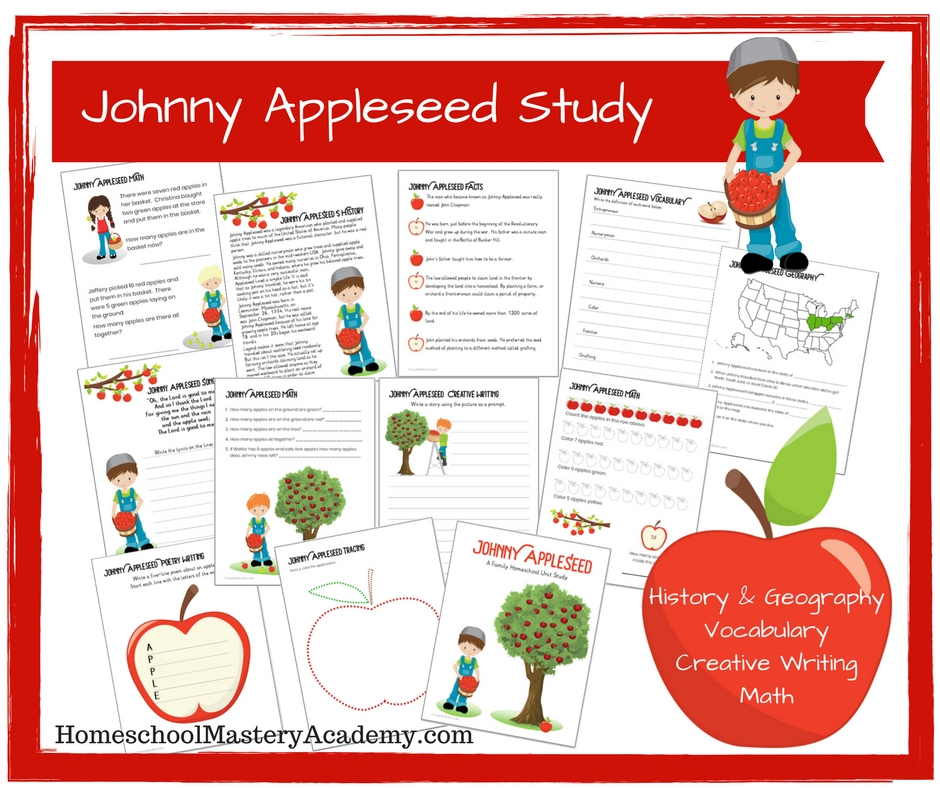 Johnny Appleseed A Family Homeschool Unit Study
