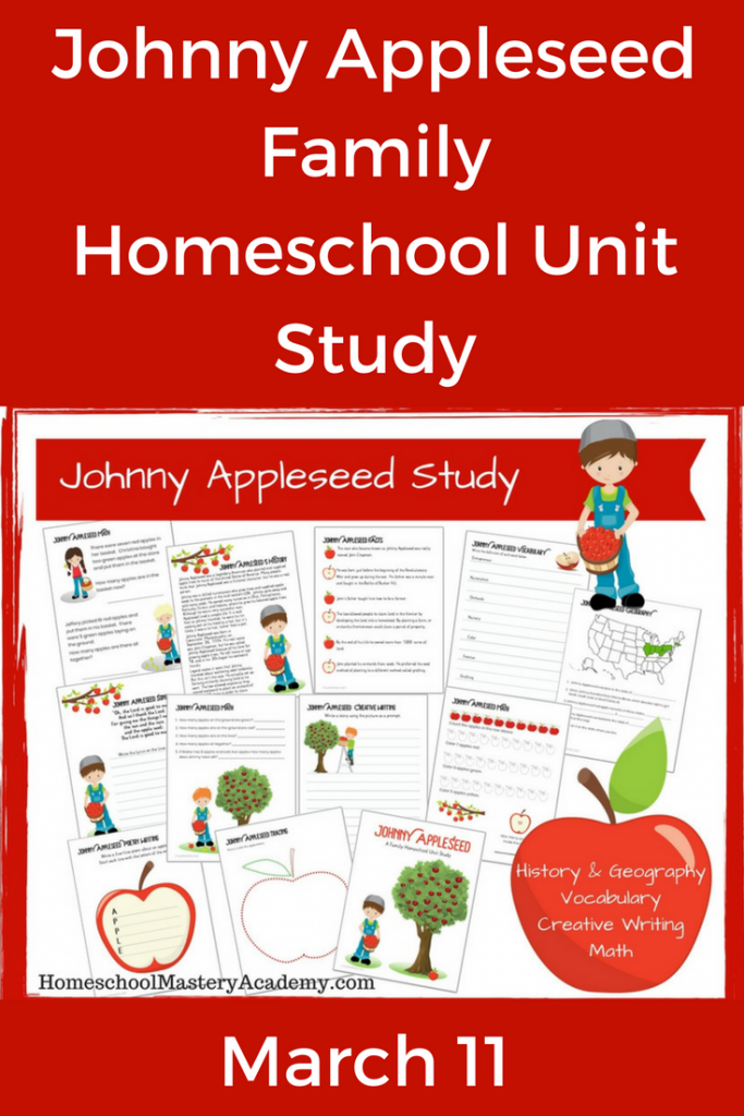 Johnny Appleseed Family Homeschool Unit Study