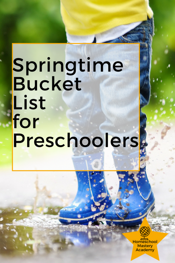 Springtime Bucket List for Preschoolers
