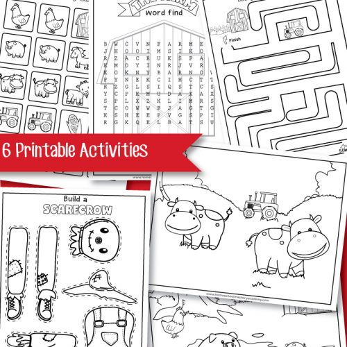Farm Early Learning Printable Workbook
