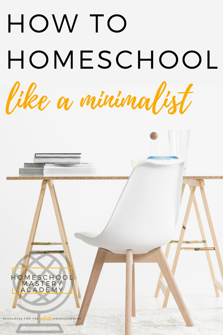 minimalist homeschool