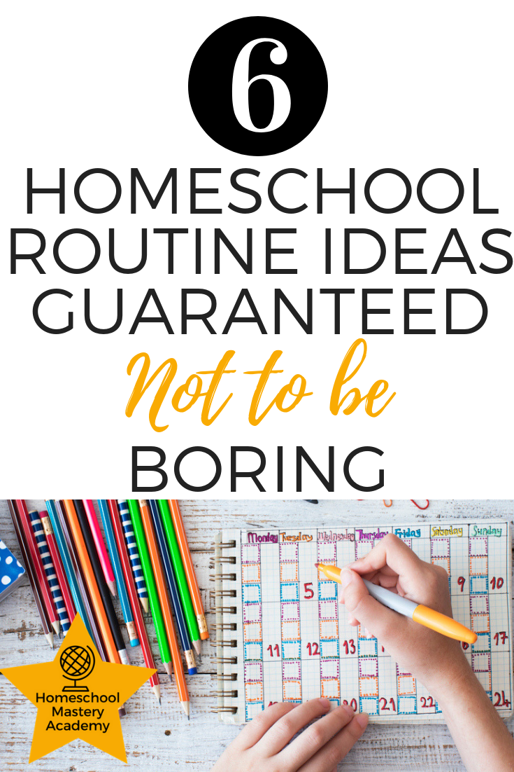 homeschool routine ideas