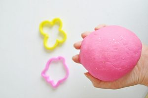 Frugal Sensory Spring Glitter Play Dough Recipe