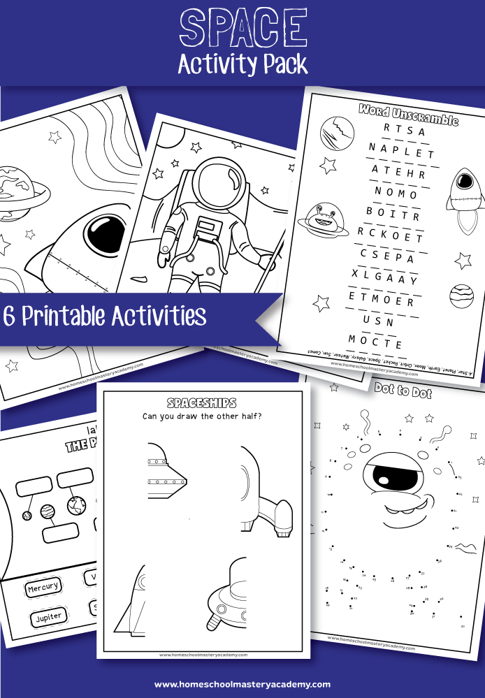 Space Early Learning Printable Activity Pack