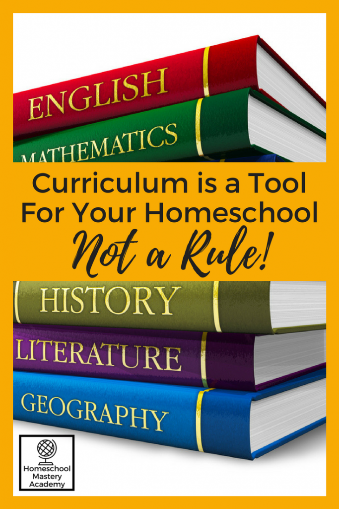 Curriculum is a Tool For Your Homeschool