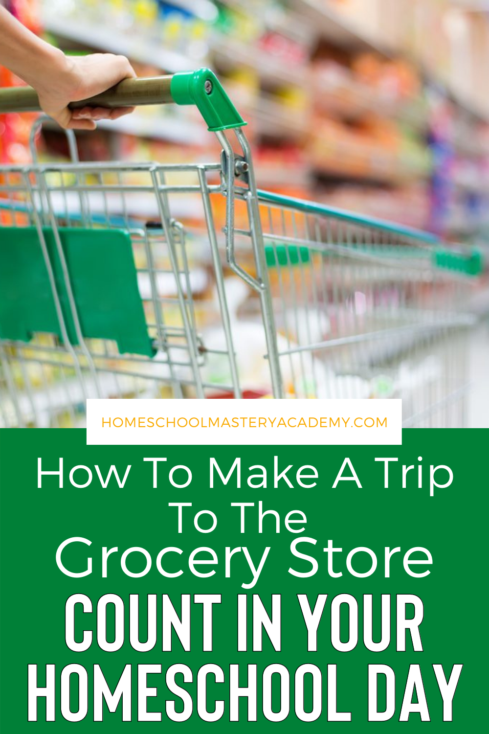 A trip to the grocery store can be much more than the just restocking on essentials. Here is how you can make it count in your homeschool day! #homeschool #lifeskills #homeschooltips #homeschooling