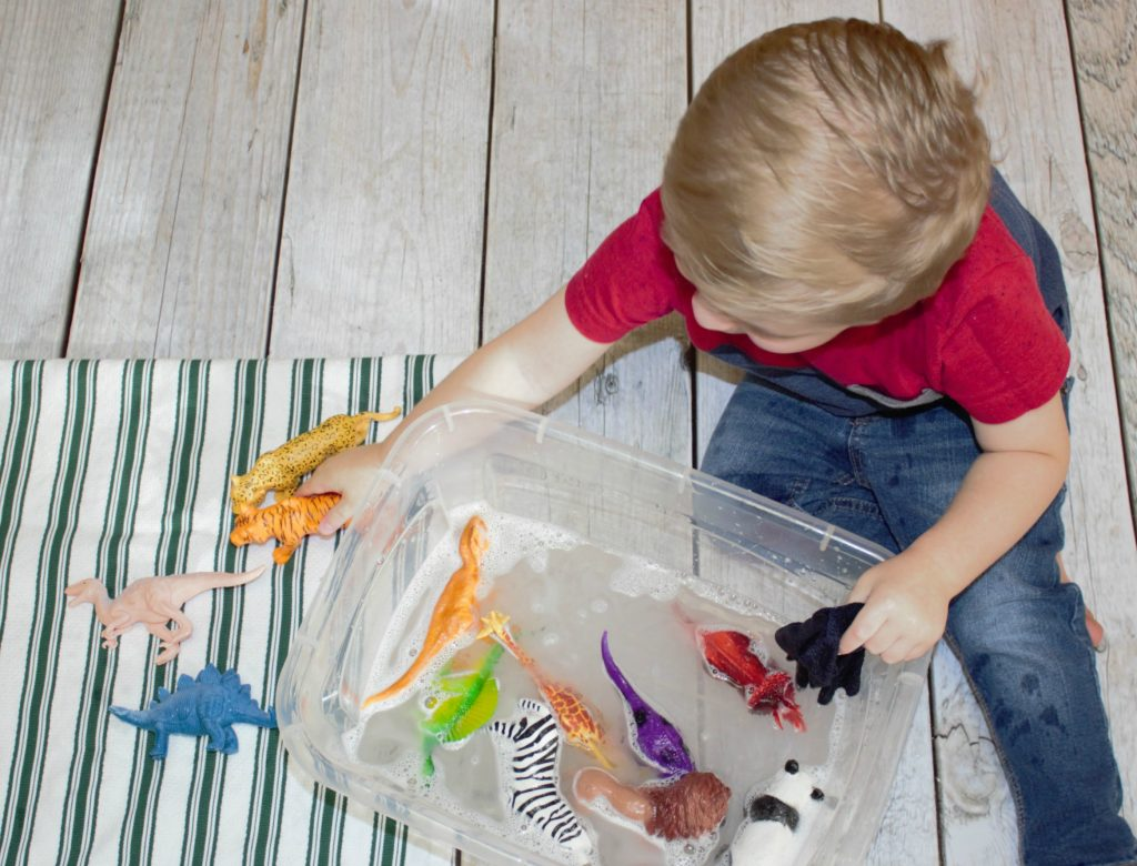 Washing Toys Water Play Activity for Preschoolers