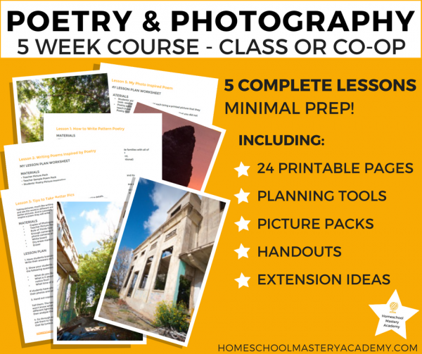 Poetry and Photography: A Homeschool Group Study of the Power of Words and Images