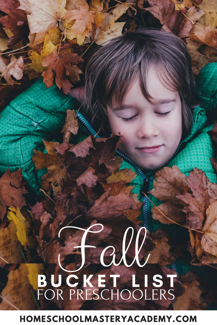 Fall Bucket List for Preschoolers