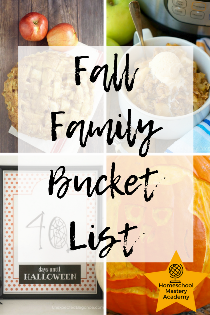 Fall Family Bucket List