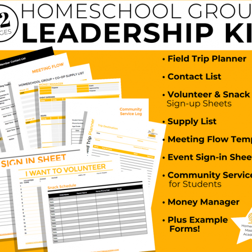 Homeschool Group Leadership Kit