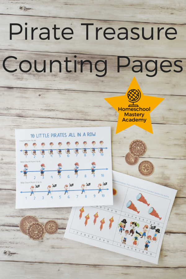 Pirate Treasure Counting Pages