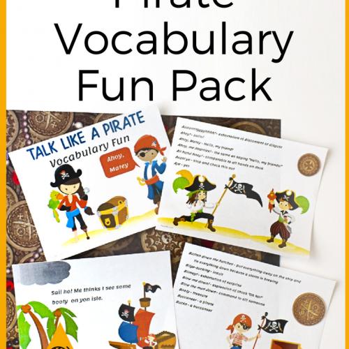 Talk Like a Pirate Vocabulary Fun Pack