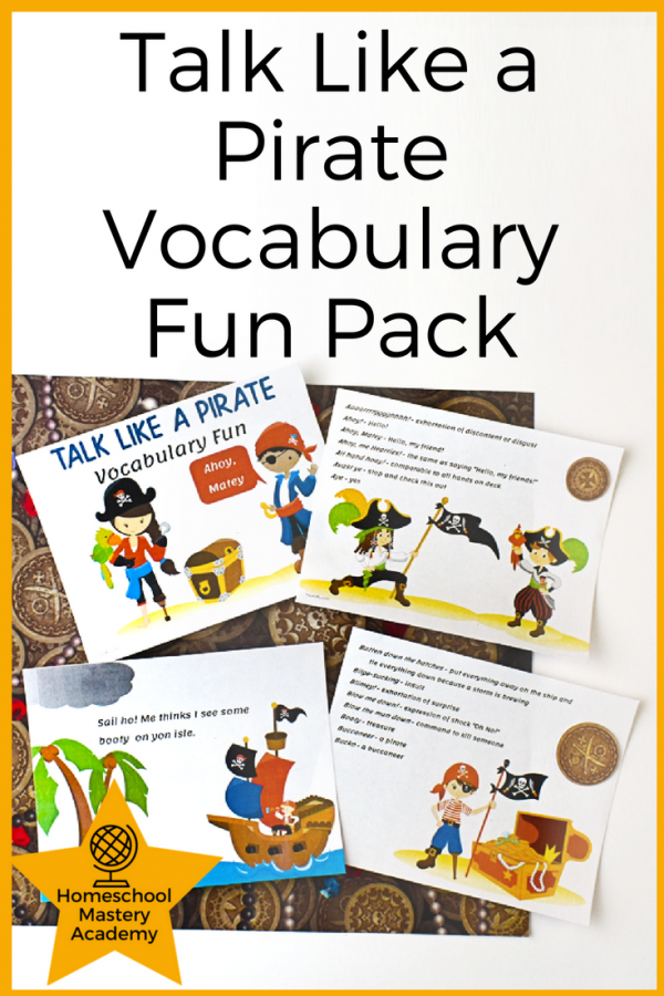 Talk Like a Pirate Vocabulary Fun Pack