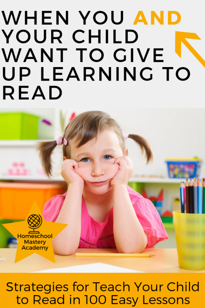 When You and Your Child Want to Give Up Learning to Read