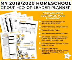 Homeschool Group Leadership Planner
