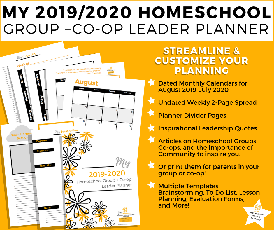 Homeschool Group Leadership Planner