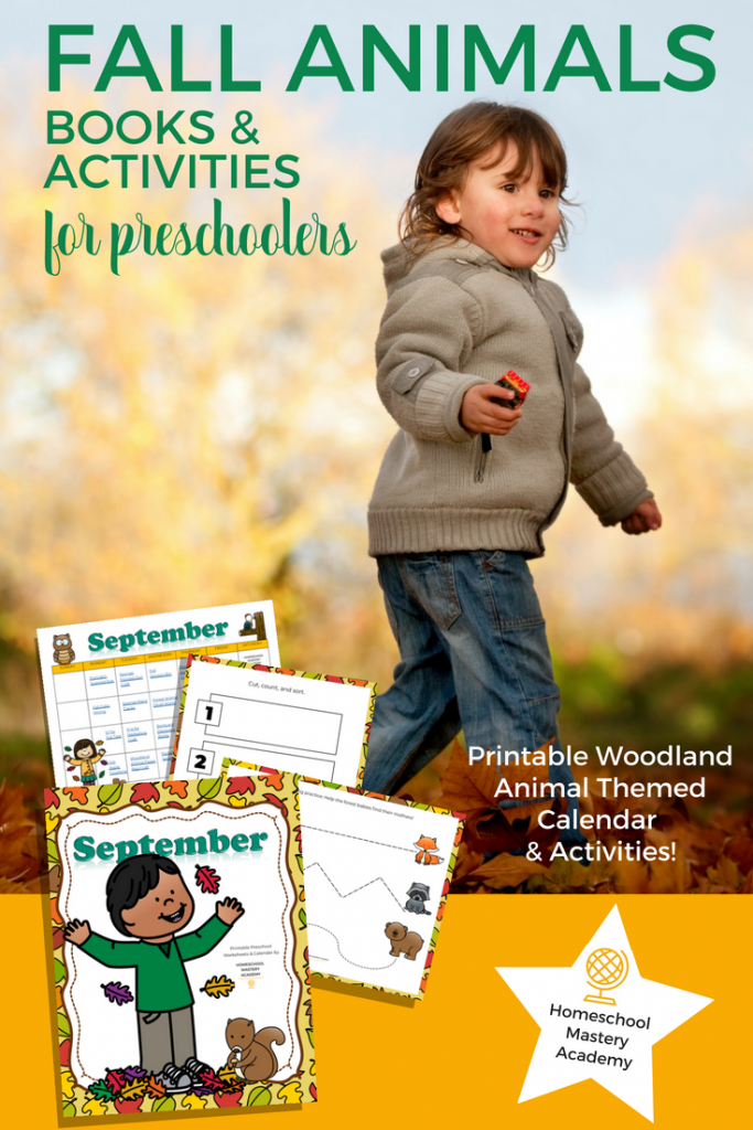 Woodland Creatures Fall Themed Books & Activities for Preschoolers