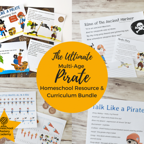 Ultimate Multi Age Pirate Homeschool Resource & Curriculum Bundle