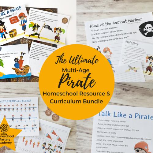 Ultimate Multi Age Pirate Homeschool Resource & Curriculum Bundle