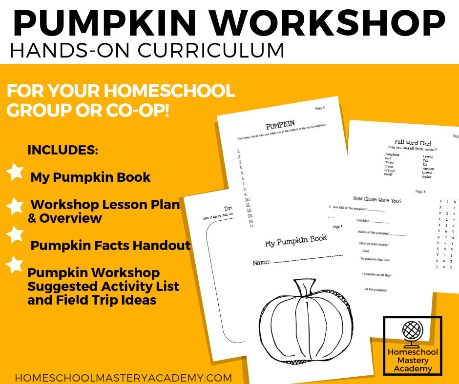 Fall Pumpkin Workshop Lesson Plan Homeschool Groups