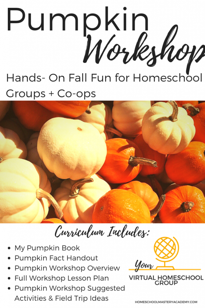 Fall Pumpkin Workshop Lesson Plan for Homeschool Groups