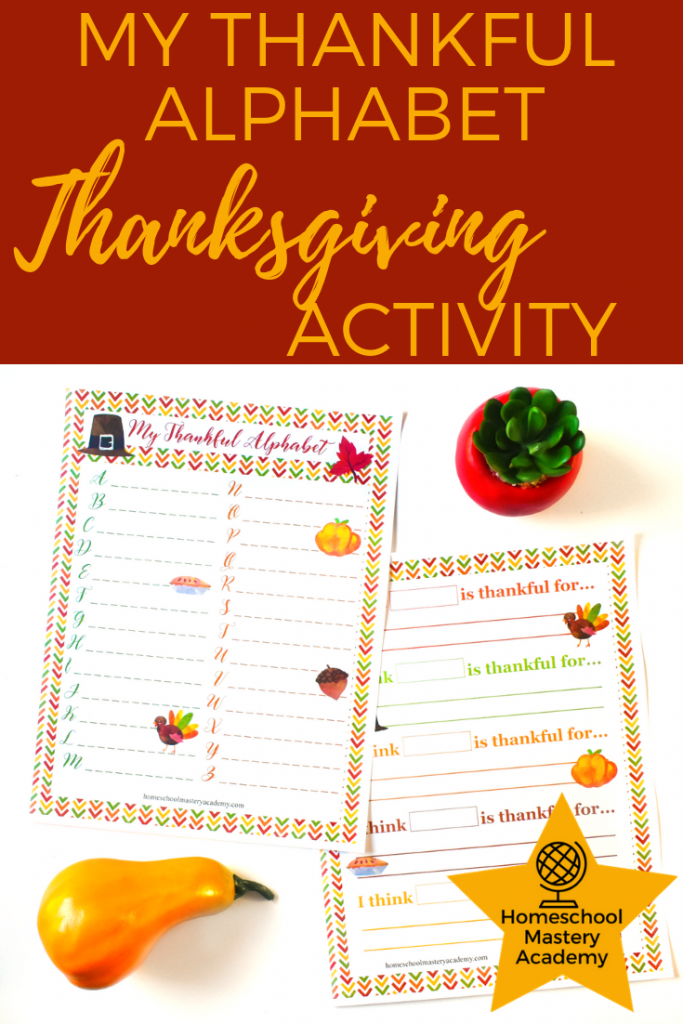 My Thankful Alphabet Thanksgiving Activity