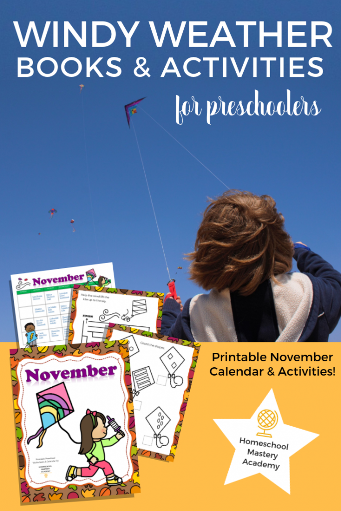 Windy Weather Themed Books & Activities for Preschoolers