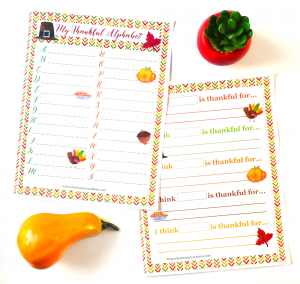 My Thankful Alphabet Thanksgiving Printable Activity