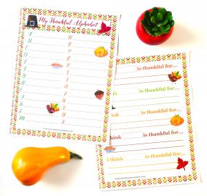 My Thankful Alphabet Thanksgiving Printable Activity