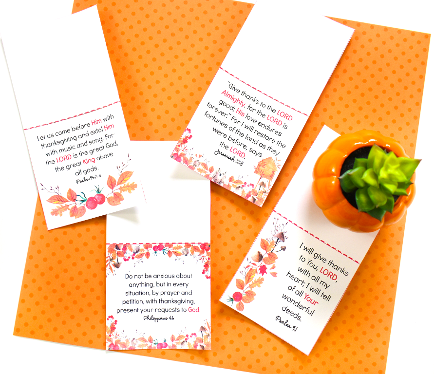 Thankful Printable Scripture Cards Perfect for Blessing Bags