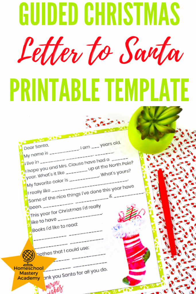 Guided Christmas Letter to Santa Printable Template