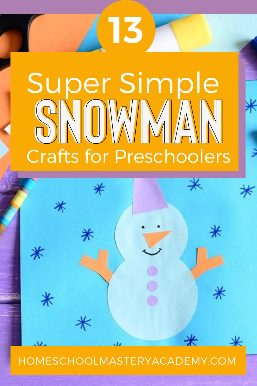 Snowman Crafts Preschool