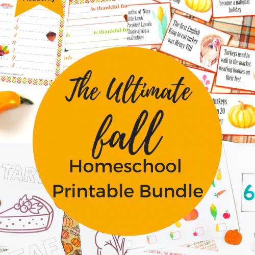 The Ultimate Fall Homeschool Printable Bundle