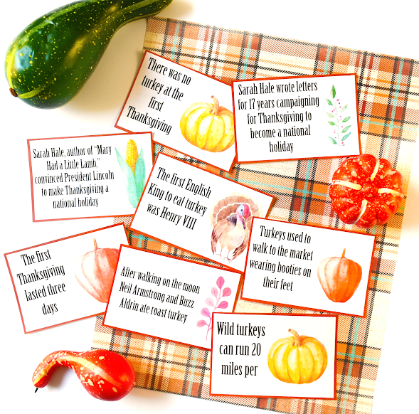 Thanksgiving Turkey Facts Printable