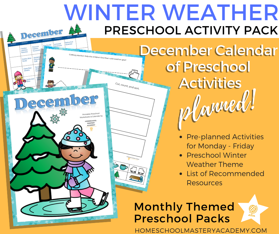 Winter Themed Books & Activities for Preschoolers