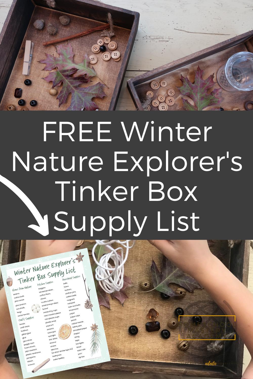Winter Nature Explorer's Tinker Box Supply List