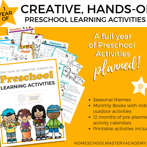 One Year of the Best Pre K Homeschool Hands-On Activities