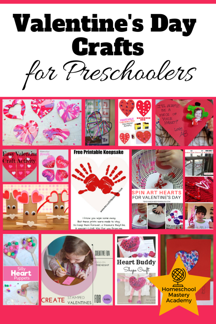 Valentines Day Crafts for Preschoolers Gushing with Love
