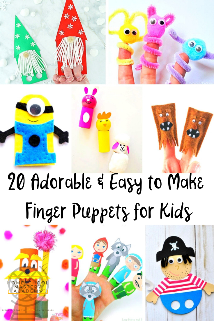 20 Adorable & Easy to Make Finger Puppets for Kids