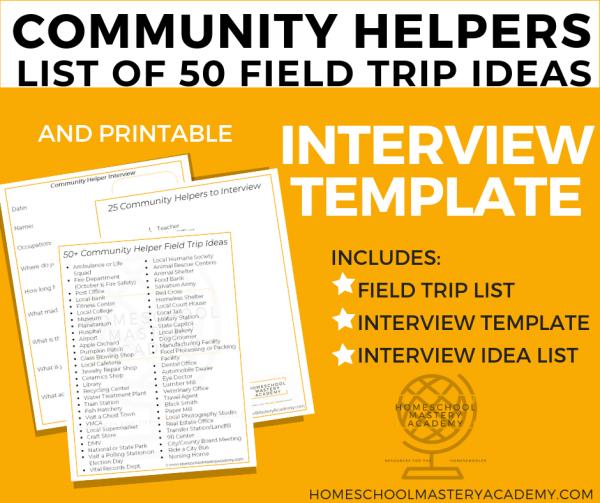 Community Helpers Trip Ideas